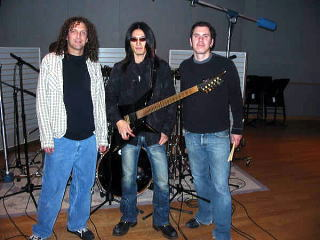 taka nad Jeff Bowders, and engineer Joe Testai in 2005