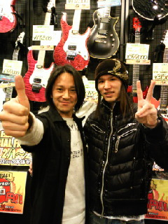 Mr.Ikeda and taka, Mr.Ikeda did takas custom guitar about 10years ago